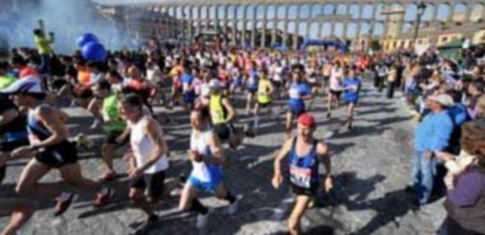 Instante de la salida de la anterior edición de la Media Maratón Ciudad de Segovia