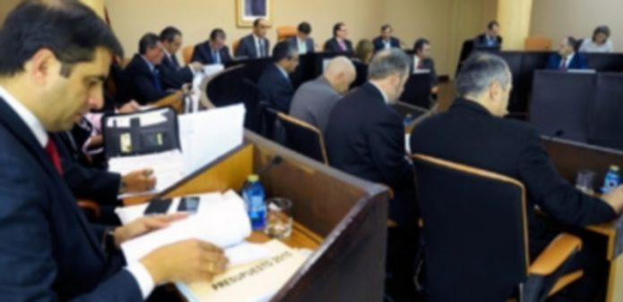 La corporación provincial debatió ayer sobre los presupuestos con los que la Diputación trabajará el año que viene. / Kamarero
