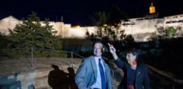 La nueva iluminación de la muralla