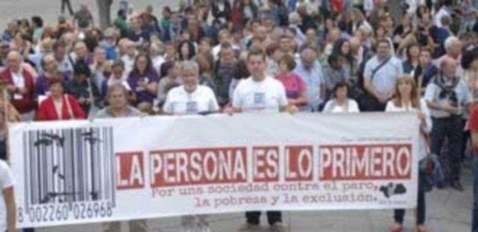 Uno de los actos públicos celebrados por la HOAC en la Plaza Mayor de Segovia. / Elena Peña
