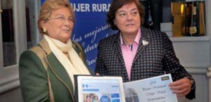 Juana Borrego y Elena García presentaron un portal de empleo y la gala de los Premio Mujer Rural Emprendedora. /Kamarero