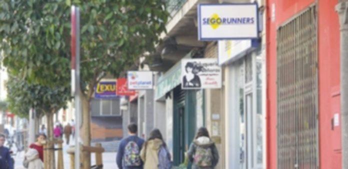 Una calle de la capital segoviana donde abundan negocios del sector del Comercio