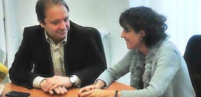 Ana Sanjosé se entrevistó con Juan Luis Gordo en su ronda de presentación. / K.