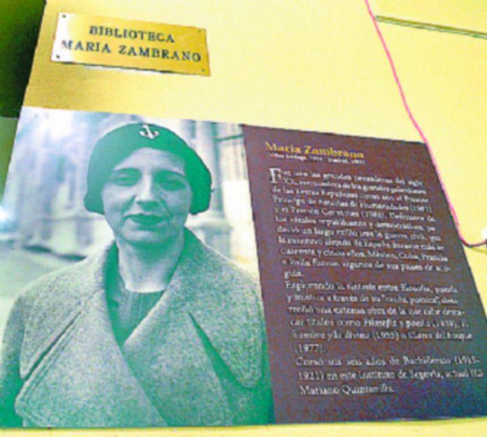 La biblioteca dle instituto lleva el nombre de María Zambrano