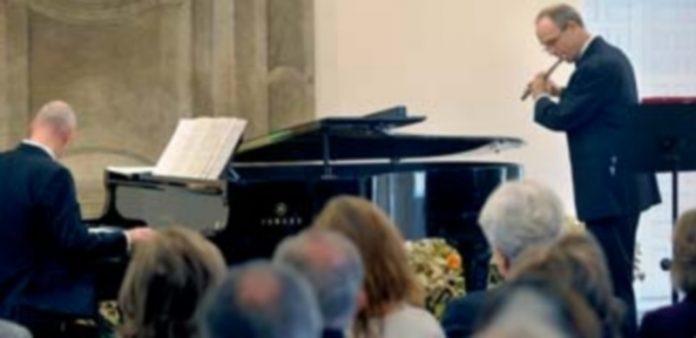 Un momento del concierto del dúo formado por Christian Mattick (flauta) y Mathias Huth (piano)