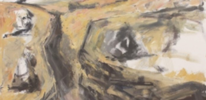 Lucía Chiosso. Duratón (2015). Óleo sobre lienzo. 146 x 114 cms.