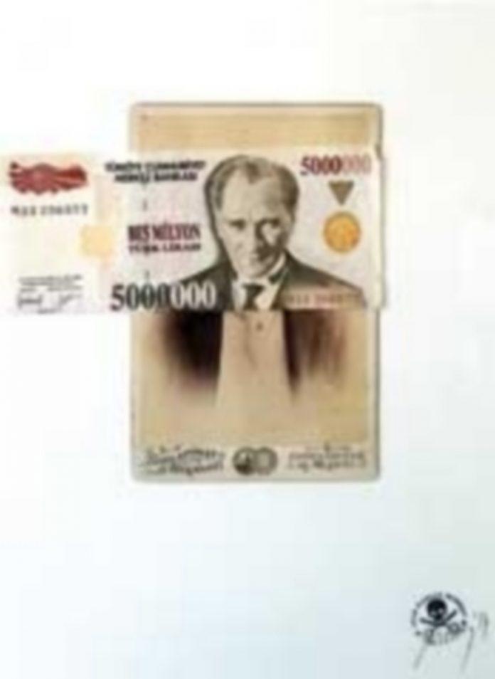 Juan Carlos Monroy. Ataturk. Billete antiguo de 5 MM. de liras turcas. Sobre Foto de los Hermanos Schlattman