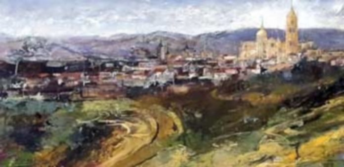 Charo Vaquerizo. Segovia al fondo