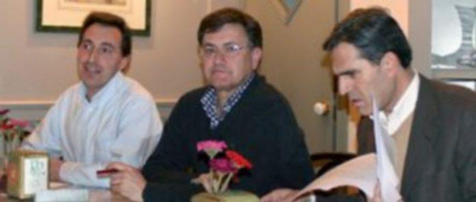 El concejal Alvaro Pajas con el presidente provincial del PP