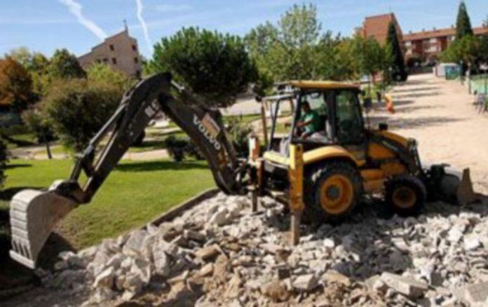 Las obras del parque del Peñascal se iniciaron el mes pasado. /Alberto Benavente