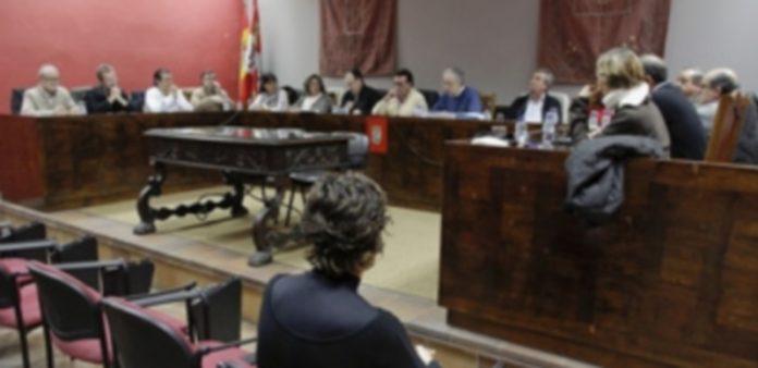 Imagen de archivo de uno de los últimos plenos municipales./ Gabriel Gómez