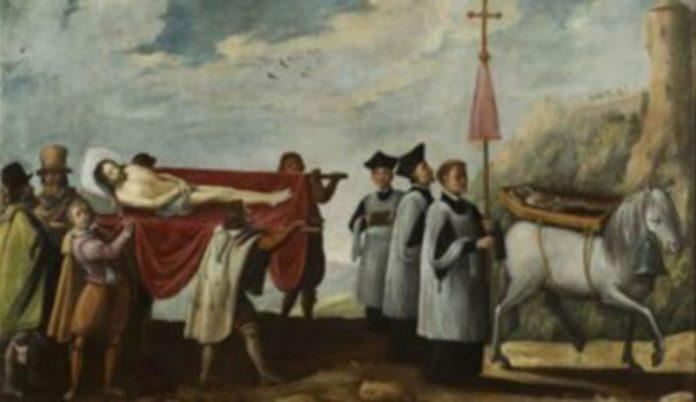 Estado del lienzo después de la restauración realizada por Paloma Sánchez.