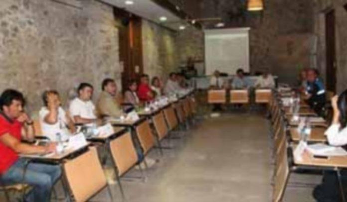 Reunión de la Junta de Seguridad en el Palacio de Pedro I. / c.n.