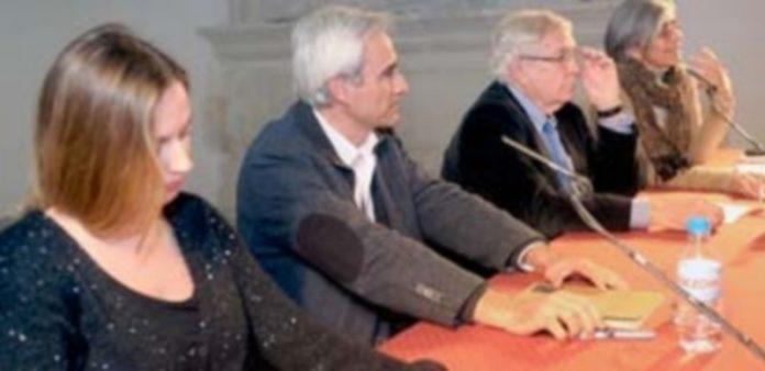 Un momento de la mesa redonda el Museo Esteban Vicente./ KAMARERO
