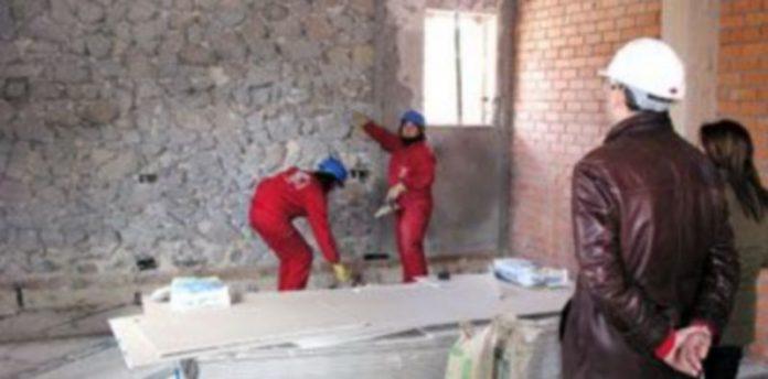 Los últimos talleres de empleo de la Comunidad han trabajado en la Casa Forestal de Fuentemacanda./GABRIEL GÓMEZ