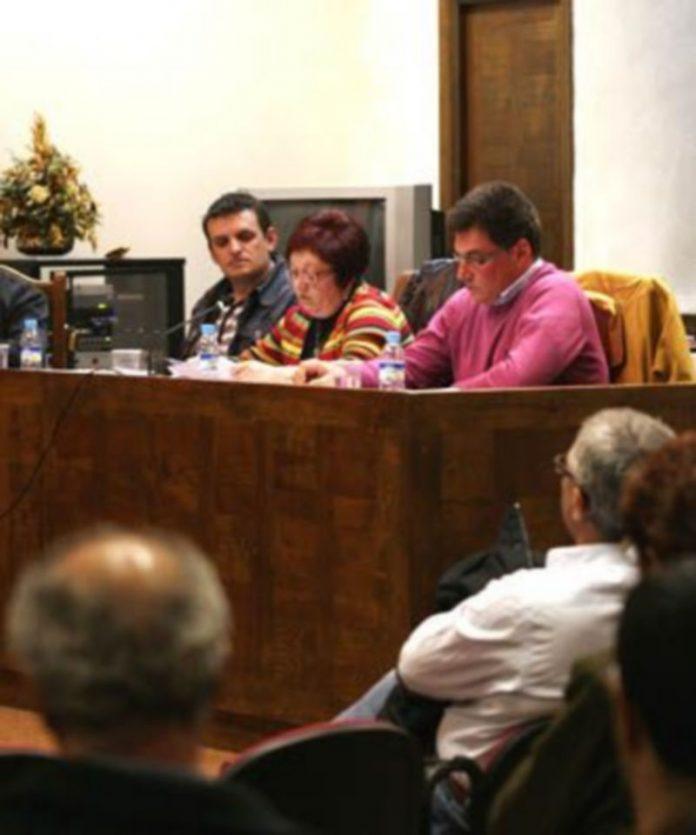 Ediles socialistas durante el último pleno ordinario. /Gabriel Gómez