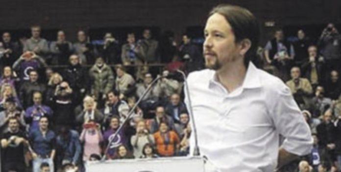 Pablo Iglesias durante su mitin de Barcelona el pasado domingo. / EUROPA PRESS
