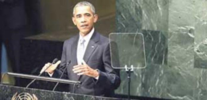 Barack Obama durante su intervención en el debate anual de alto nivel de la Asamblea General de la ONU. / EFE
