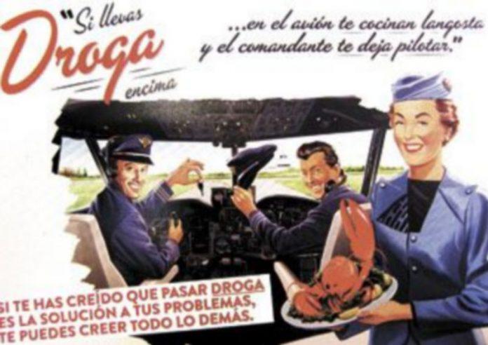 Póster de la campaña de 2012 para evitar el consumo de drogas en el extranjero. / Europa Press