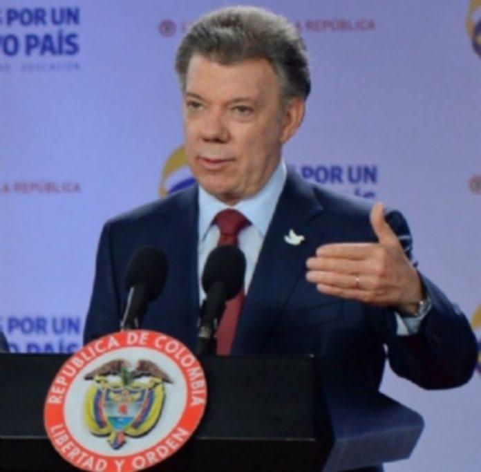 El presidente colombiano