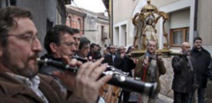 Un momento del desarrollo de la procesión del pasado año./ Gabriel Gómez