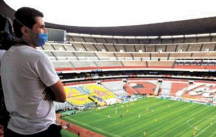 Los partidos de fútbol de la Liga mexicana tuvieron que celebrarse a puerta cerrada