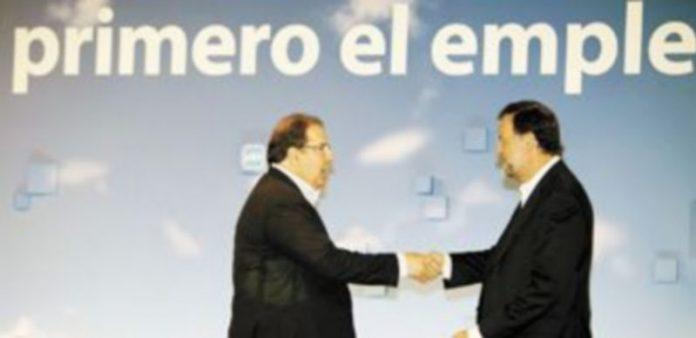 Juan Vicente Herrera saluda al presidente nacional del PP y candidato a la Presidencia del Gobierno