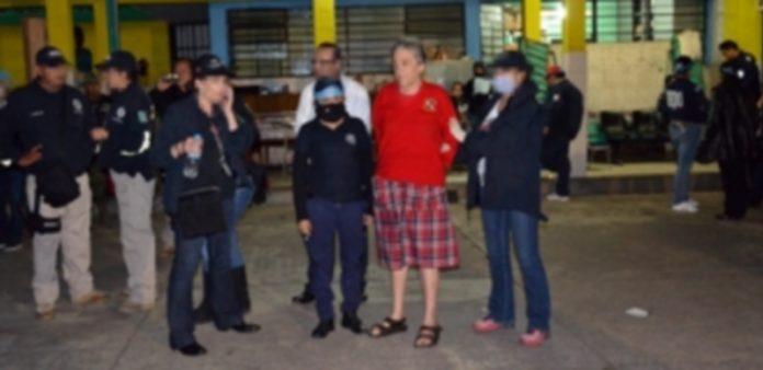 Momento de la detención de la fundadora del albergue para menores La Gran Familia