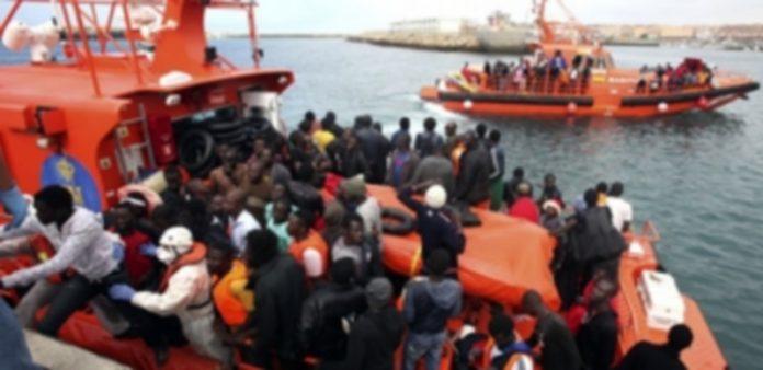 Un grupo de inmigrantes que fueron intercptados