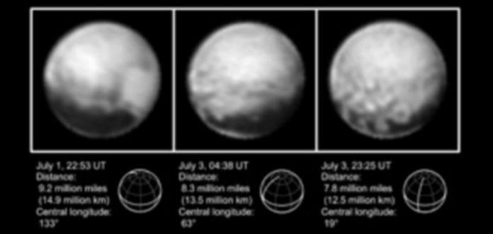 """Las tres imágenes fueron investigadas y sus datos completados por las nuevas capturas en color que detallan los """"aspectos intrigrantes"""" para los cientificos. / EFE"""