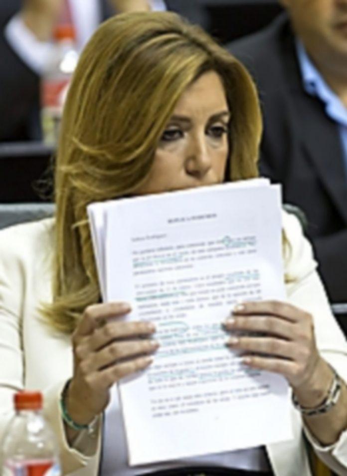 La presidenta en funciones de la Junta de Andalucía