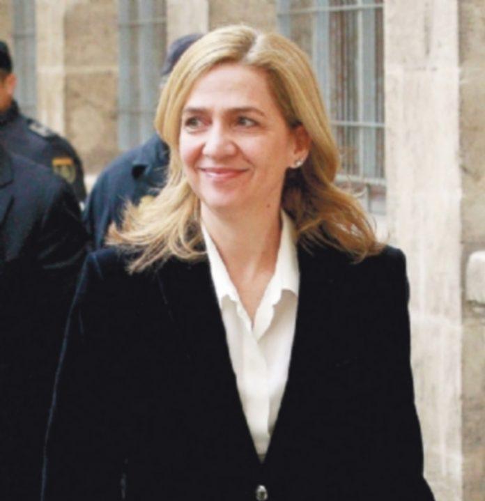 La Infanta Cristina durante una de sus intervenciones en la Audiencia Provincial de Baleares