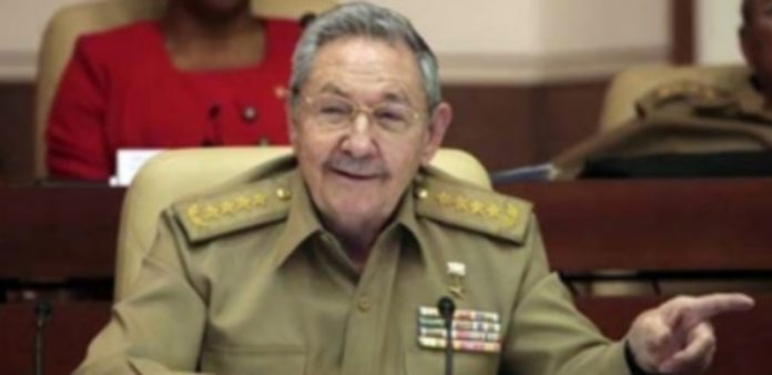 El presidente cubano