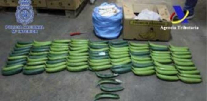 Las bananas sintéticas venían procedentes de Colombia. / Efe
