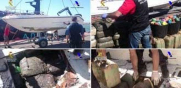 La Guardia Civil y la Agencia Tributaria desarticularon una banda delictiva que introducía hachís en España en diversas embarcaciones con doble fondo. / Efe