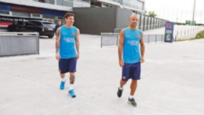 Tras la llegada de Messi (izq) y Mascherano
