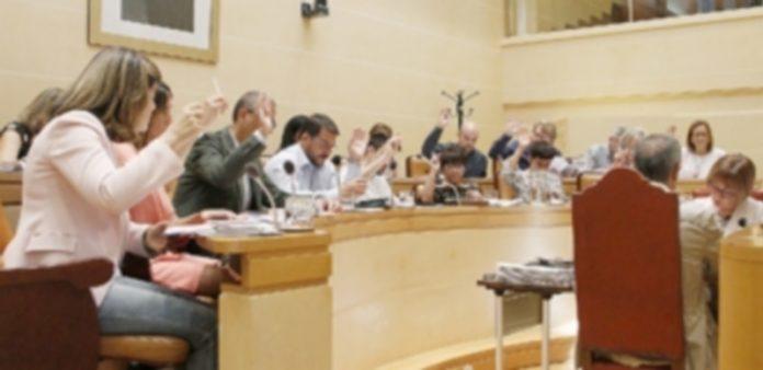 El pleno de la corporación municipal aprobó por unanimidad agilizar la revisión de la Ordenanza sobre terrazas. / NEREA LLORENTE