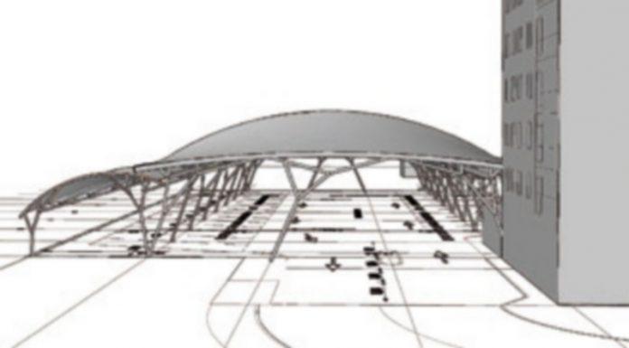 Reproducción de la cubierta tensada que se instalará en la campa de la estación de autobuses