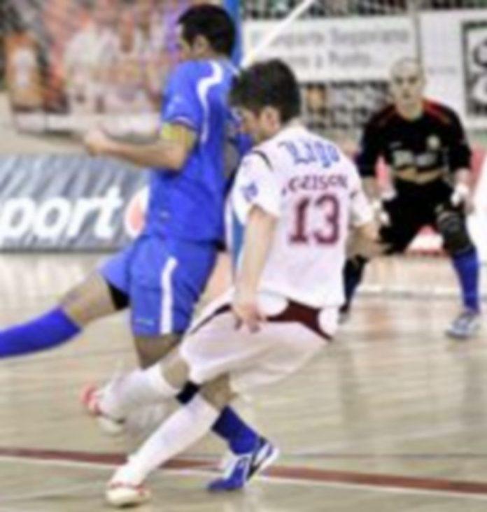De esta manera anotó Geison el segundo gol del Caja Segovia que terminó por ser definitivo para la suerte del partido. /KAMARERO
