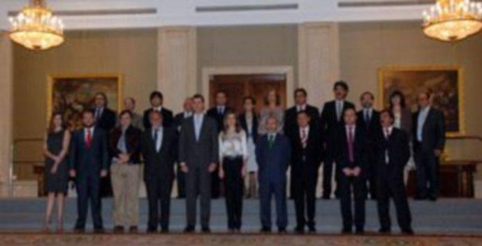 Los Príncipes han recibido a la delegación del Premio Cirilo Rodríguez en la Zarzuela./ JUAN MARTÍN