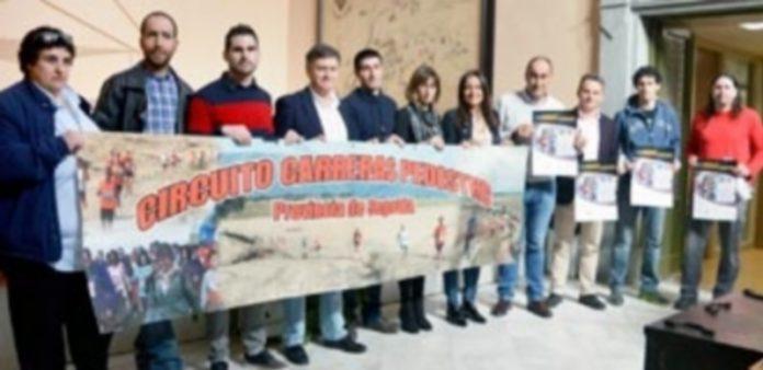 Presentación del circuito provincial de carreras pedestres en la Diputación de Segovia. / TAMARA DE SANTOS