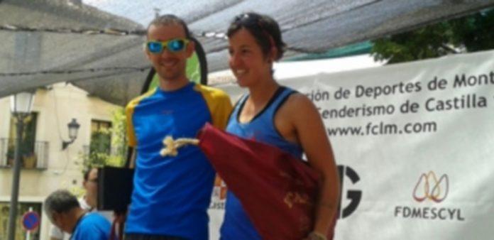 David López Castán en el podio junto con Montserrat Domínguez