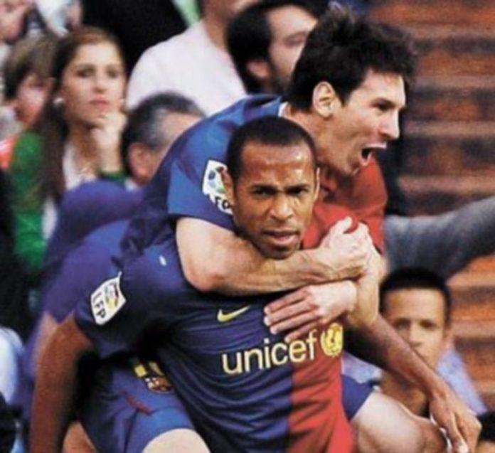 Henry anotó dos goles en el Santiago Bernabéu. / Reuters