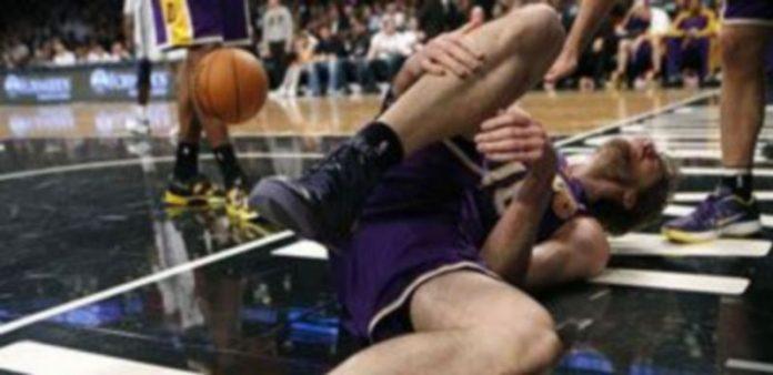 Pau Gasol cayó lesionado./ EUROPA PRESS