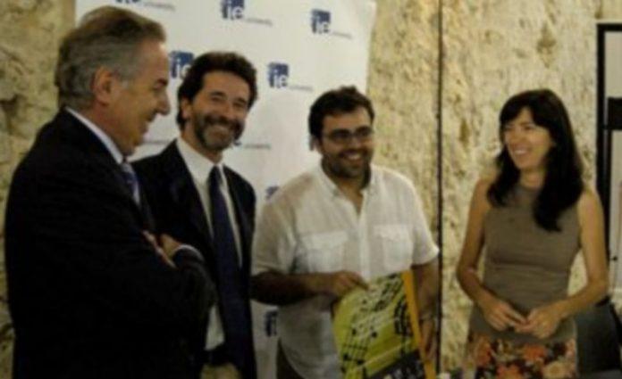 Los cuatro asistentes a la rueda de prensa de esta mañana sobre el III Curso Internacional de Música Ciudad de Segovia./ CRIS MURO DE ZARO