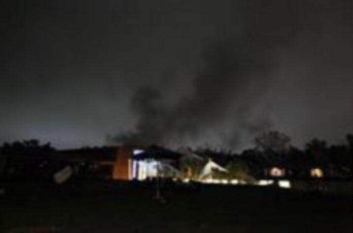 Efectos del bombardeo sobre Trípoli.REUTERS/LOUAFI LARBI.