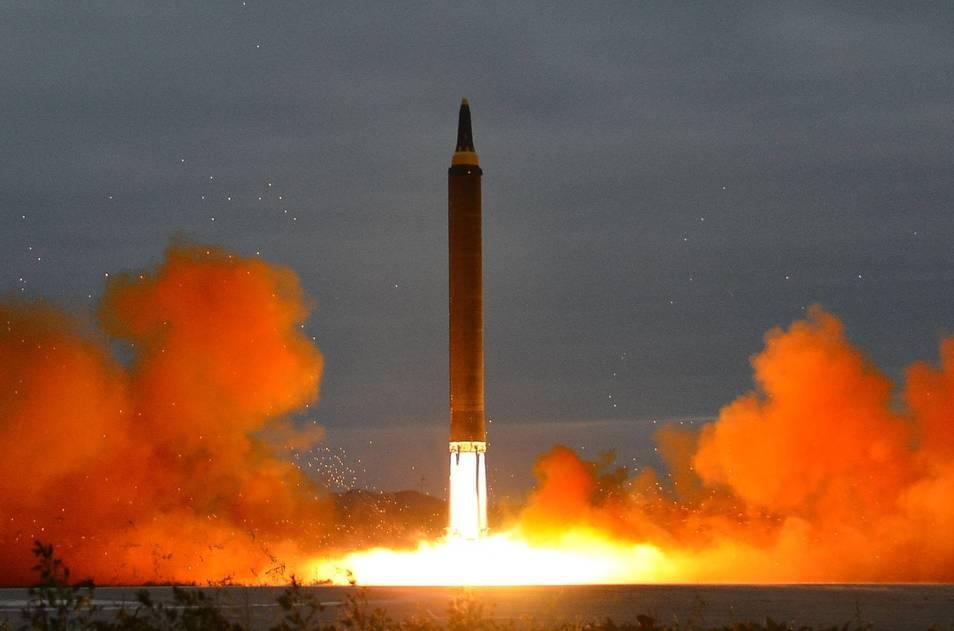 Imagen difundida por Corea del Norte tras el misil lanzado en el mes de septiempre sobre Japón