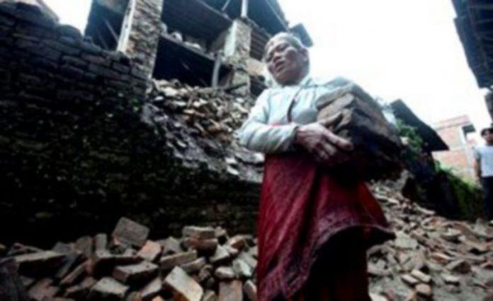 La anciana nepalesa Shuvadra Pathi
