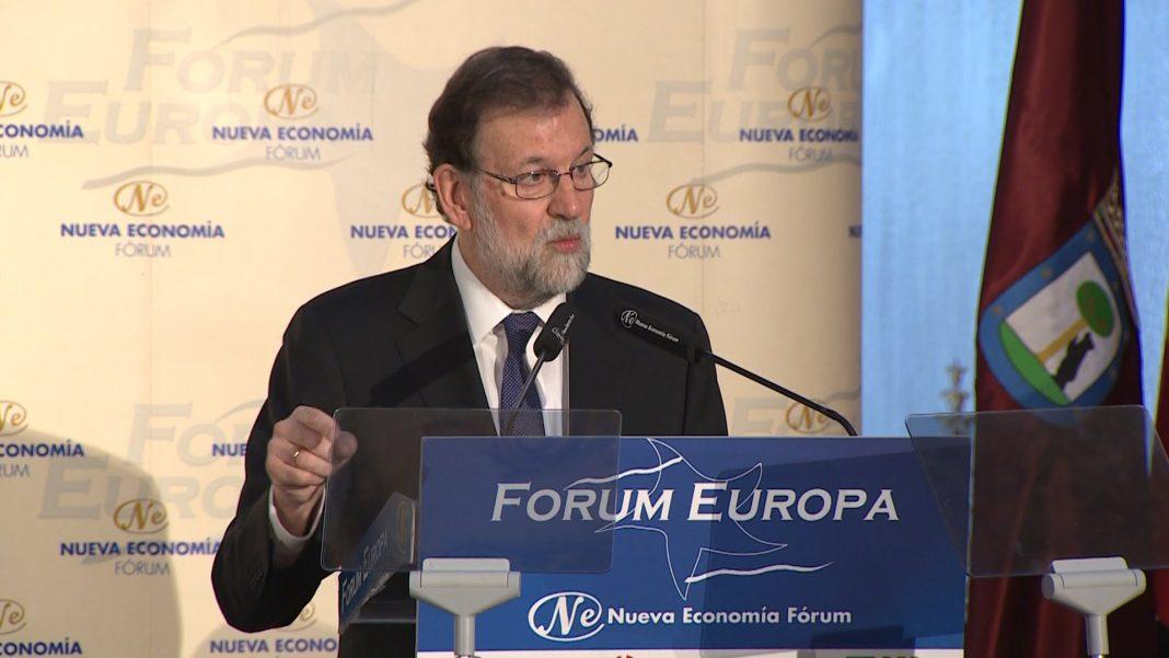 El presidente del Gobierno, Mariano Rajoy, durante su intervención. / EFE