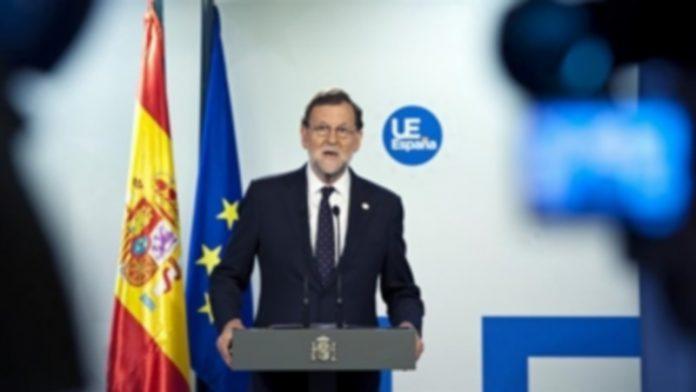 Mariano Rajoy durante la rueda de prensa que ofreció el miércoles desde Bruselas. / efe